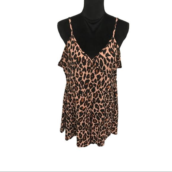 Plus Leopard Playsuit